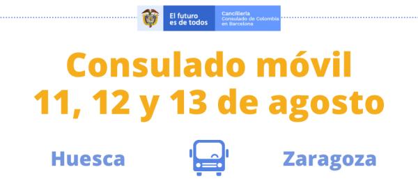 En agosto de 2021 se realizará la jornada de Consulado Móvil en Huesca y Zaragoza